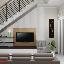 gambar Desain interior Ruang TV Ibu Dian