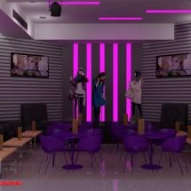 gambar Desain interior hall ruang karaoke