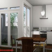 Konsep Gambar 3D Interior Dapur Bapak Urip