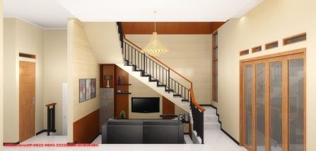 Konsep Gambar 3D Interior Ruang TV Bapak Rachadian Ahmad