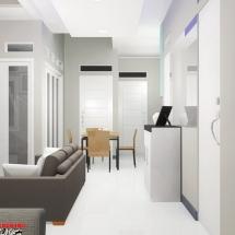 Gambar 3D Interior Ruang TV Ibu Dian
