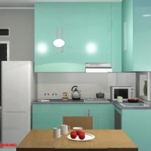 Gambar 3D interior Dapur Ibu Dian