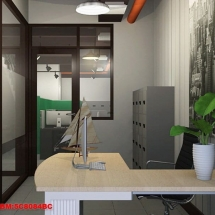 konsep Gambar interior ruang manajer pemasaran Castrol