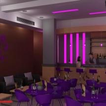 gambar Konsep desain interior hall ruang karaoke