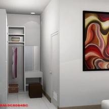 gambar Visualisasi 3D Interior Kamar Tidur Bapak Urip