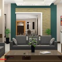 gambar Visualisasi 3d interior ruang tamu Bapak Herman