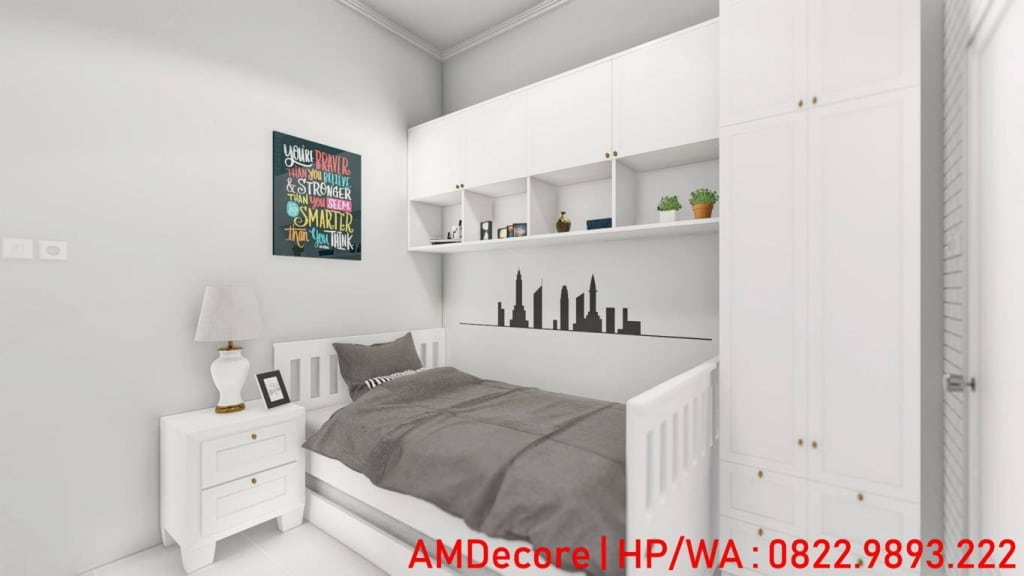 Gambar konsep rumah Scandinavian kamart tidur anak