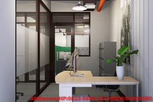 gambar Konsep industrial pada ruangan direktur