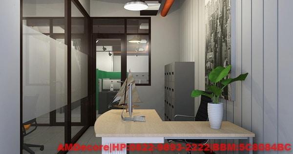 gambar Ruangan direktur konsep industrial