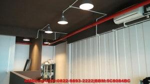 foto tampak plafond pekerjaan interior kantor