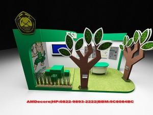 gambar Konsep desain booth stand pameran ESDM