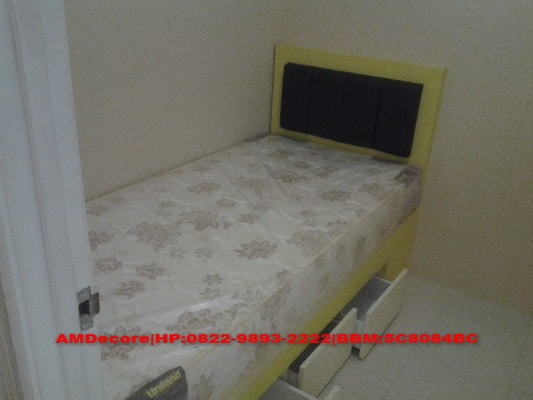 ilustrasi interior kamar anak paket apartemen 2 bed room full furnish