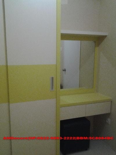 ilustrasi lemari pakaian paket apartemen 2 bed room full furnish