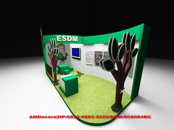 gambar modelling booth stand pameran ESDM