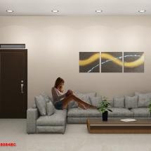 gambar Desain interior ruang tamu Rumah Bapak Herman