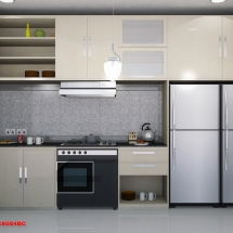 konsep Gambar 3D Interior Dapur Ibu Ani