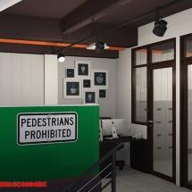 konsep Gambar interior ruang staff kantor pemasaran Castrol