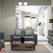 gambar Konsep interior Ruang Tamu Ibu Dian