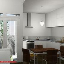 gambar Visualisasi 3D Interior Dapur Bapak Urip