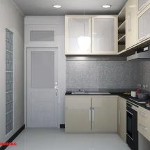 gambar Visualisasi 3D Interior Dapur Ibu Ani