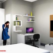 gambar Visualisasi 3D interior Kamar utama Ibu Dian