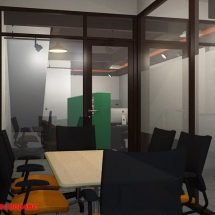 gambar Visualisasi 3D interior ruang meeting pemasaran Castrol