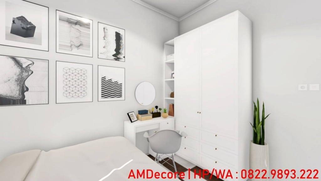 Gambar konsep rumah Scandinavian kamar utama