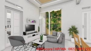 Gambar konsep rumah Scandinavian ruang keluarga