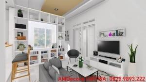 Gambar model rumah skandinavia ruang keluarga